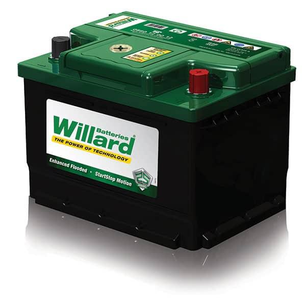 Green and black Automotive Willard Battery